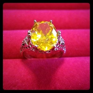 Jewelry - Jewelry, Women's Ring, Yellow Stone, Size 7, New